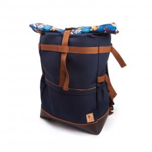 Rókás és páfrányos rolltop hátizsák