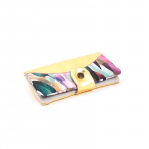 Pasztell leveles arany pénztárca