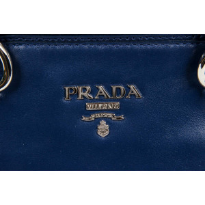 42a911f0e1 PRADA LADIES BN2866 NERO SOFT CALF TOTE HANDBAG - Pinup Menina Fashions