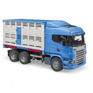 Bruder - Scania R-Series Állatszállító egy marhával (03549)
