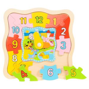 Puzzle - órás- többféle (macis, háziállatos)