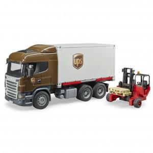 Bruder - Scania R-Series UPS teherautó targoncával (03581)